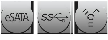 eSATA, USB 3.0 & FireWire 800 Interface Pictogrammen