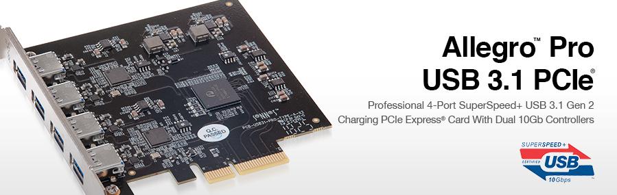 Allegro Pro USB 3 1 PCIe | Sonnet