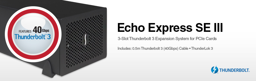 341ff0a5f8e Echo Express SE III  3-Slot Thunderbolt 3 Expansion System for PCIe Cards