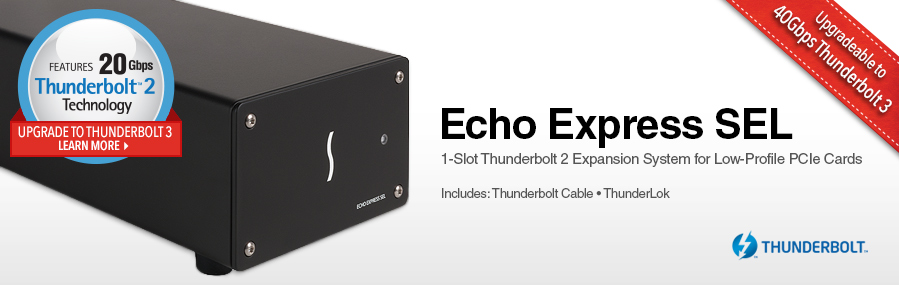 Echo Express SEL: Thunderbolt 2 Expansion Chassis for PCIe Cards