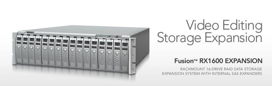 Fusion RX1600 RAID SATA Expansion Storage System   Sonnet