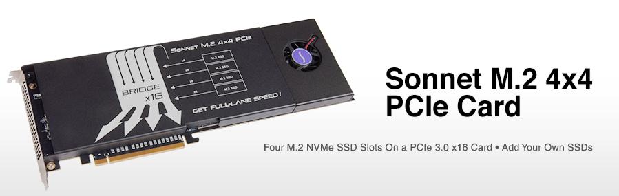 Sonnet M.2 4x4 PCIe-kaart