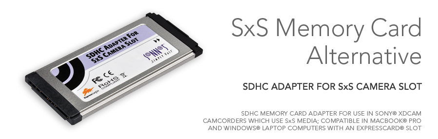 SDHC Adapter for SxS Camera Slot | Sonnet