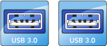 USB 3.0 Ports Illustration