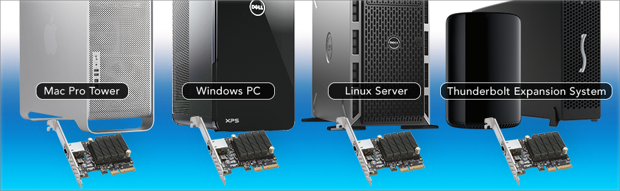 Computers with Solo10G PCIe Cards