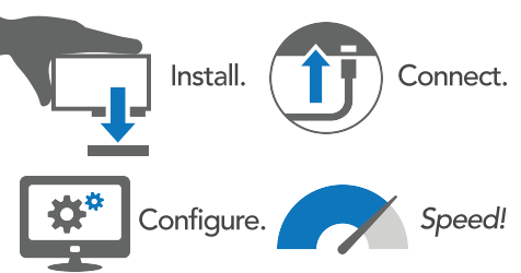 Install. Connect. Configure. Speed! Icons