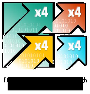 Vier rijstroken met PCIe 3.0-bandbreedte