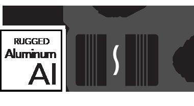 Robuuste aluminium en afmetingen pictogrammen