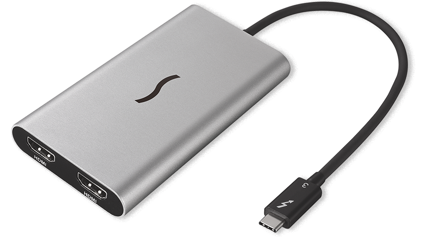 Thunderbolt 3 to Dual HDMI 2 0 Adapter | Sonnet
