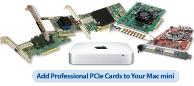 Add Professional PCIe Cards to Your Mac mini