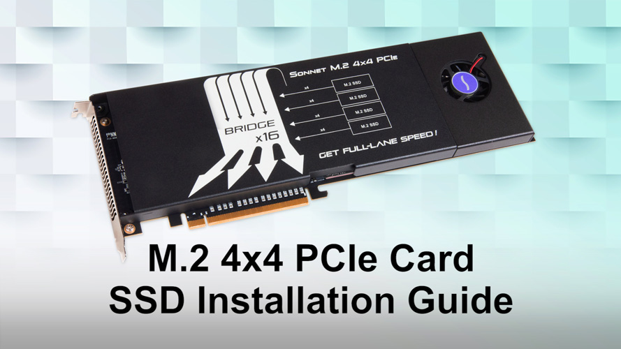 Sonnet M 2 4x4 PCIe Card for SSDs | Sonnet