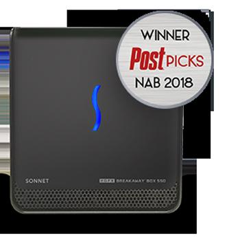 eGFX Breakaway Box 650 avec le trophée PickHit 2018
