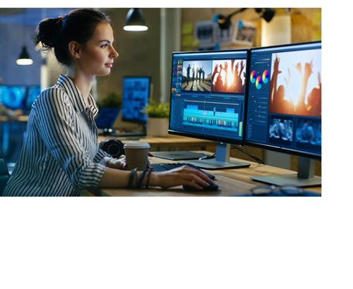 eGFX Breakaway Box avec un Mac Pro dans un studio de montage vidéo