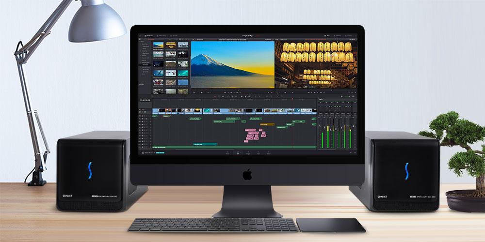Deux eGFX Breakaway Box avec un iMac Pro
